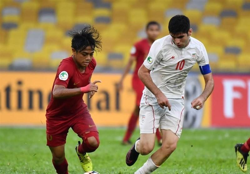 فوتبال زیر 16 سال قهرمانی آسیا، تساوی ایران و هند در نیمه نخست