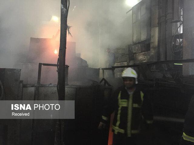 وقوع حریق سنگین در یکی از واحدهای شهر صنعتی کاوه ساوه