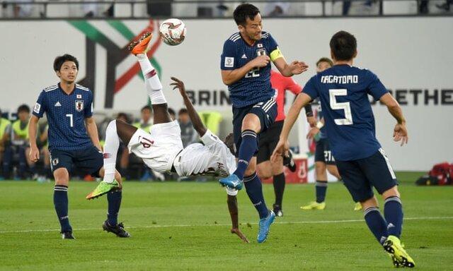 فزونی قطر برابر ژاپن در نیمه نخست فینال جام ملت ها