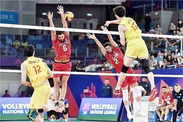 پیروزی قاطع تیم ملی والیبال مقابل چین ، ایران 6 امتیازی شد
