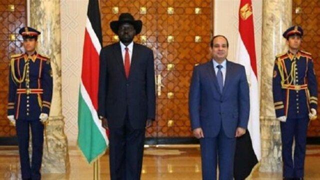 پیغام سیسی به رئیس جمهوری سودان جنوبی، مصر به دنبال سرمایه گذاری در این کشور آفریقایی