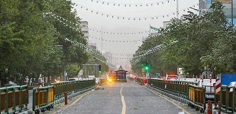 خیزش موقتی گرد و خاک در پایتخت