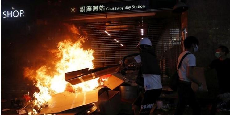خشونت های بی سابقه در هنگ کنگ؛ مترو تعطیل شد