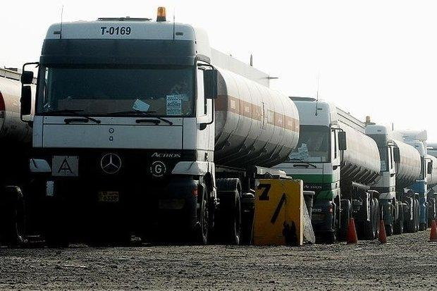 تزازیت 3835 کامیون مشتقات نفتی به کشور افغانستان