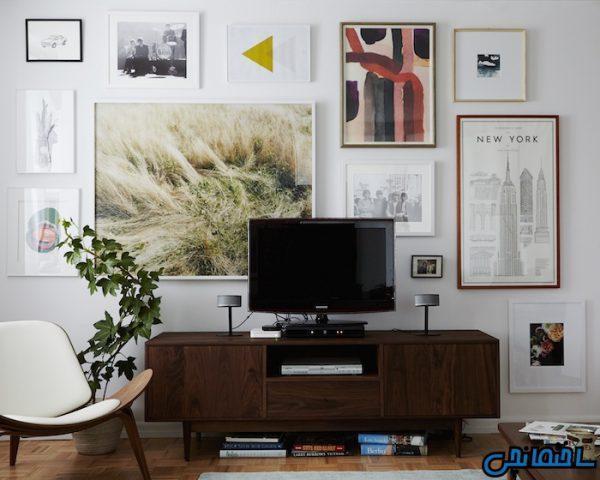 ایده های طراحی دیوار پشت تلویزیون