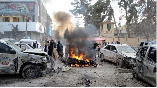 انفجار انتحاری در کویته پاکستان جان دست کم 10 تن را گرفت
