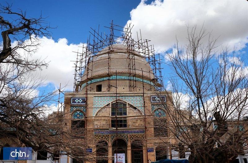 رونمایی از تکمیل طرح عمرانی مرمت گنبد امام زاده سهل بن علی در استان مرکزی