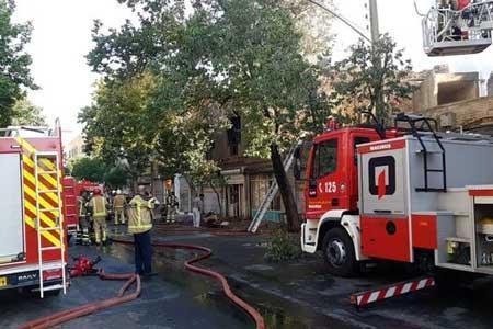 انفجار و آتش سوزی در کارگاه شارژ سیلندرهای گاز در میدان خراسان