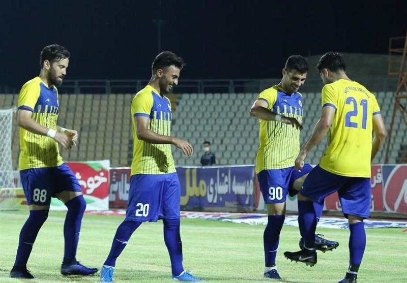 لیگ برتر فوتبال، برتری یک نیمه ای نفت مسجدسلیمان مقابل ماشین سازی
