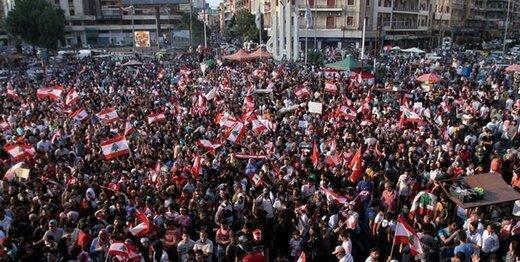 مردم لبنان مقابل مجلس تظاهرات کردند
