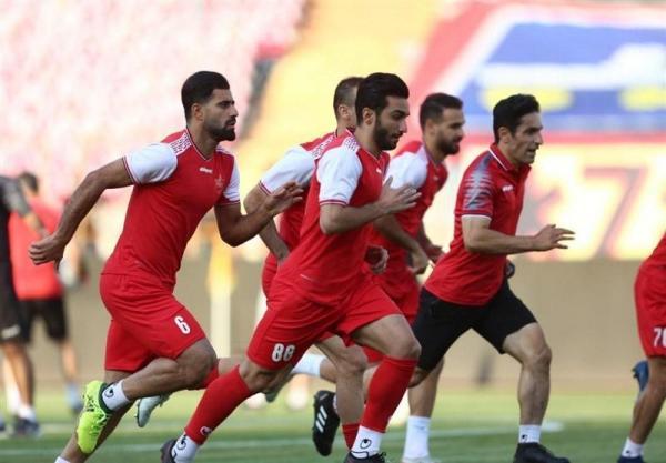 تمرین همزمان بازیکنان پرسپولیس در دو ورزشگاه مختلف