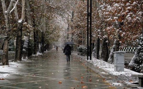 شرایط آب و هوا امروز آدینه 26 دی 99؛ برف و باران در 13 استان